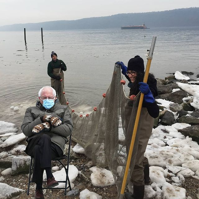 We can't wait to be back down by the river with our friends! #berniesmittens #HudsonRiver #seining #yonkers